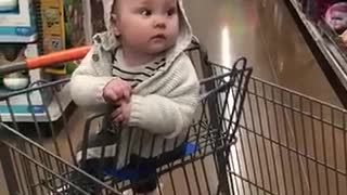 COVID Era baby goes to the toy Dept first time