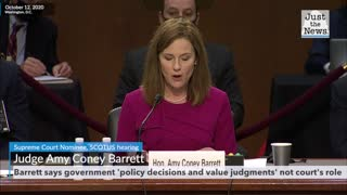 SCOTUS hearing: Barrett says government 'policy decisions and value judgments' not court's role