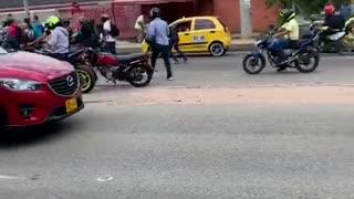 Cinco heridos tras accidente en la vía Bucaramanga - Girón