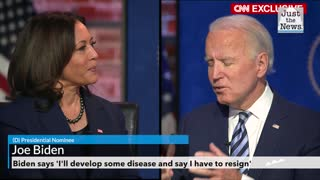 Biden says 'I'll develop some disease and say I have to resign'