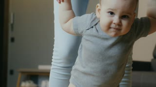 baby learns first steps !!!