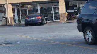 Lady Peeing in Walmart Parking Lot