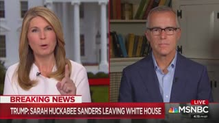 Andrew McCabe celebrates Sarah Sanders departure with Nicolle Wallace