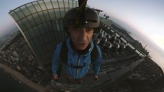Base Jumping From 101 Floor Skyscraper