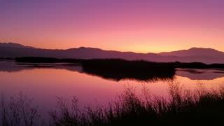 Sunrise over San Jacinto wildlife area