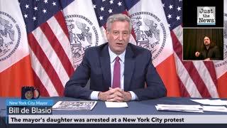 Mayor Bill de Blasio talks about his daughter's arrest