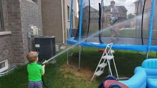 Garden hose fun