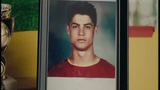 Cristiano Ronaldo happy