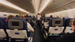 travel inside airplane