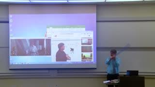 (April Fools Prank) Math Professor Fixes Projector Screen