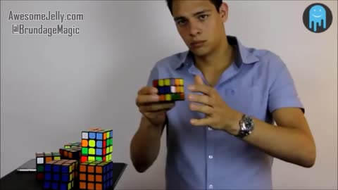 America's Got Talent Rubik's Cube Magician Stephen Brundage Solves 8 Rubik's Cubes in 1-Minute