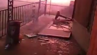 UHaul Filled With Fireworks EXPLODES