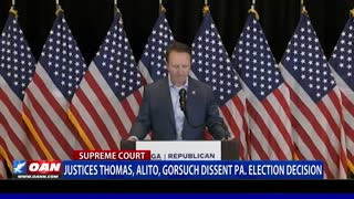 Justices Thomas, Alito, Gorsuch dissent Pa. election decision