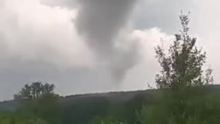 Person Witnesses Tornado Forming In