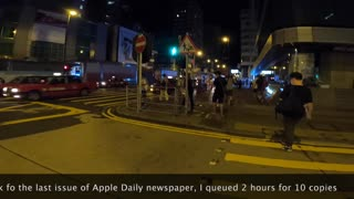 HONG KONG PEOPLE QUEUE 2 HOURS FOR the last issue Apple Daily NEWSPAPER IN MIDNIGHT 24 JUNE 2021