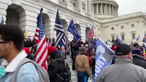US Capitol porch on 6 January