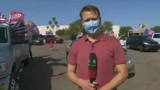 Reporter immidiately regrets asking protester
