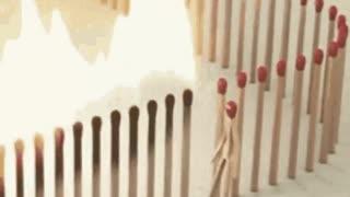 Domino Effekt Streichholz