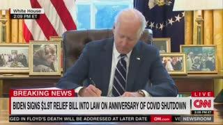 Biden's Staff Escort Him Away When Reporters Ask About Covid Relief Bill, Border Crisis