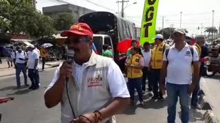 Marcha de maestros en Cartagena