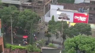 Protesta en la carrera 33 de Bucaramanga