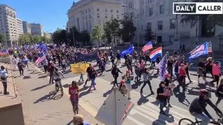 Trump Supporters Marching From Freedom Plaza