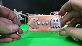 Custom Pac Man belt buckle -RT ARTISAN WORKS