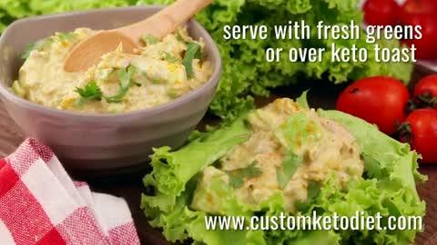 Keto Curry Spiked Tuna and Avocado Salad keto recipes
