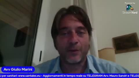 l'Avv. Giulio Marini e l'OMS 30 giugno 2021