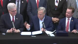 WATCH: Texas Gov. Greg Abbott Signs Constitutional Carry Bill Into Law