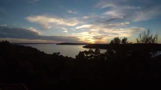 Sunset over Lake Eufala, Oklahoma - Timelapse 4k
