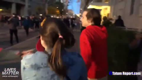 BLM-antifa Attack Trump Supporter Couple Leaving MAGA March DC