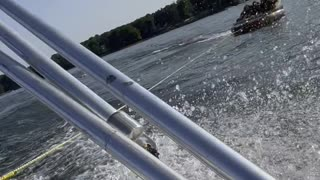Epic Tubing Wipeout Sends Girl Flying