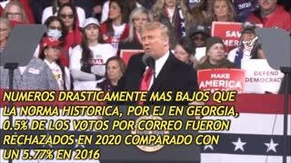 Trump en Georgia, Subt en Español: Estamos ante un Fraude Electoral
