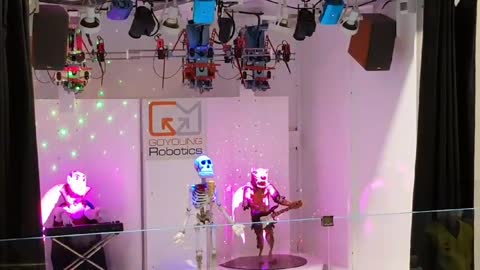 Robots performing 'Sunny'!