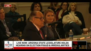 Rudy Giuliani's Opening Statement During Arizona Legislature Hearing on Election Fraud