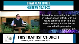 Sunday Mornign Worship - March 28, 2021