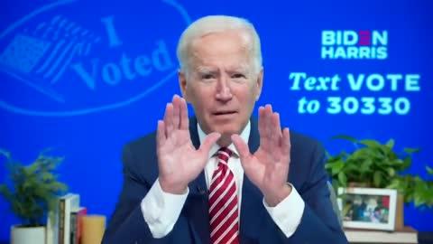 Joe admits Voter Fraud