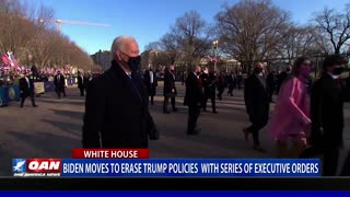 Biden moves to erase Trump policies with series of executive orders