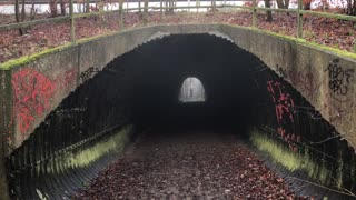 Ghost caught on camera in spooky tunnel
