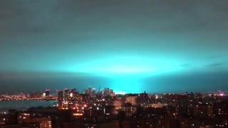 NYC Explosion Turns Sky Blue Hue