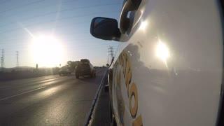California Highway Patrol Gopro Shot