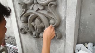 Amazing Construction - Excellent Workers rendering sand and cement