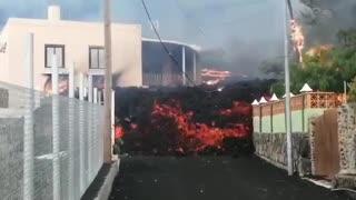 Lava from volcano destroys homes on Spain's La Palma island