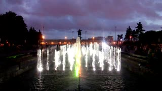 Light and music fountain in St. Petersburg