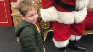 Boy Leaves Santa Out of Breath