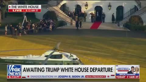 Trump Departs the White House for the Last Time as President