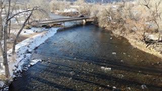 Arkansas River after a snow
