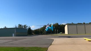 EMS Helicopter Launches to go save a life