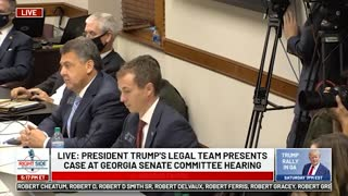 Witness #11 Speaks at GA Senate Committee Hearing on Allegations of Election Fraud. 12/03/20.